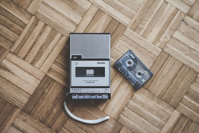 Casette tape - Photo by Simone Acquaroli on Unsplash