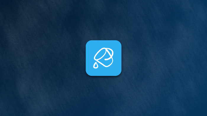 Buckets Mobile icon on a dark blue background